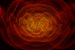 Kunne vi se gravitasjonsbølger, ville sammensmeltingen av to svarte hull se slik ut. Fra en matematisk simulering. Grafikk: NASA/C. Henze