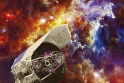 Romteleskopet Herschel har kartlagt stjerner og galakser for å finne mer ut om det tidlige universet og galaksenes utvikling. Grafikk: ESA/C. Carreau