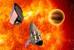 To mulige utforminger av det planlagte europeiske romteleskopet PLATO som skal lete etter nære jordliknende planeter. Grafikk: ESA