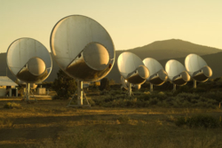 SETIs antenner Allen Telescope Array. Foto: SETI