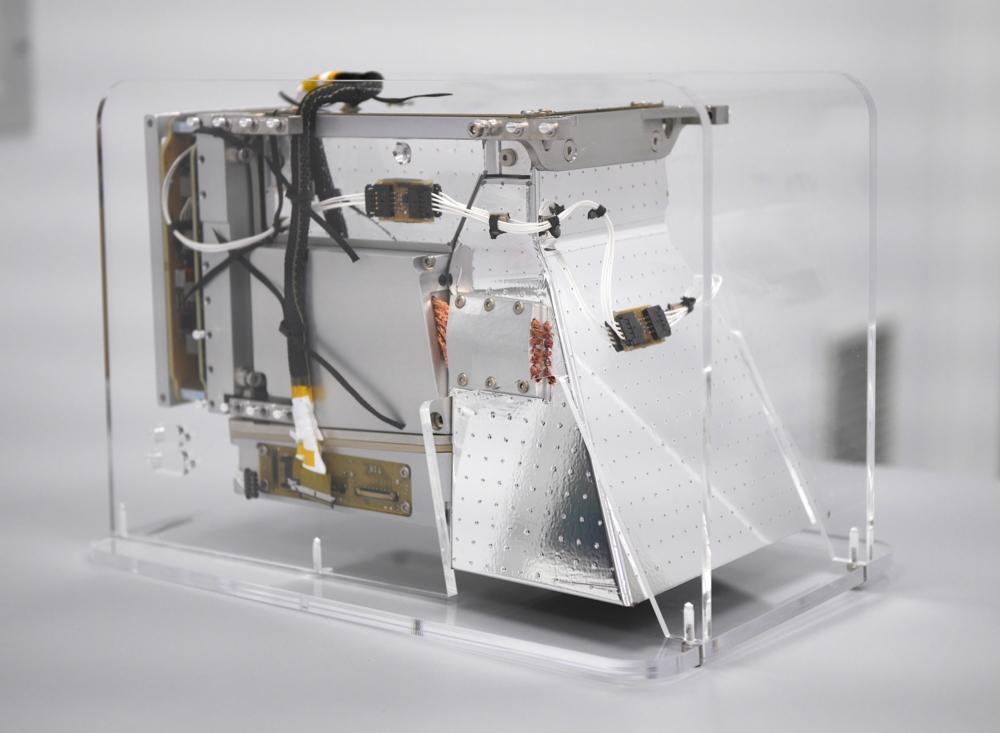 Navigasjonskameraet til Heracles, som skal ta prøver fra månens overflate og bringe dem tilbake til romstasjonen i bane rundt månen. Foto: Cosine/ESA