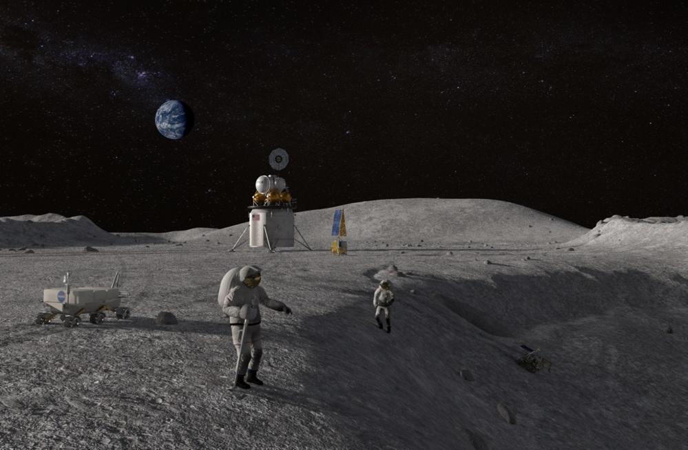 NASA skal lande romfarere på månen før 2024. Europa og Norge kan bli med. Illustrasjon: NASA