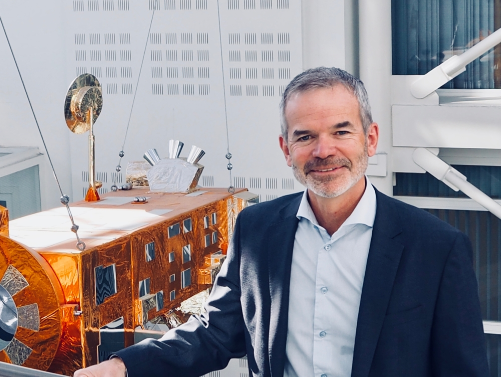 Christian Hauglie-Hanssen is director general of the Norwegian Space Centre. Photo: NSC