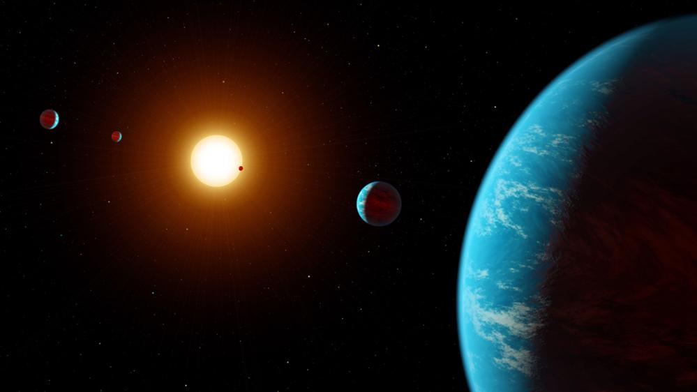 K2-138 er det første solsystemet som har blitt funnet ved hjelp av nettdugnad. Grafikk: NASA/JPL-Caltech