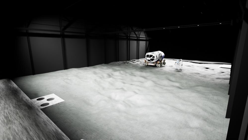 Måneetterlikningen Luna som ESA skal bygge i Køln. Her skal teknologi og prosedyrer som skal til månen testes. Grafikk: ESA