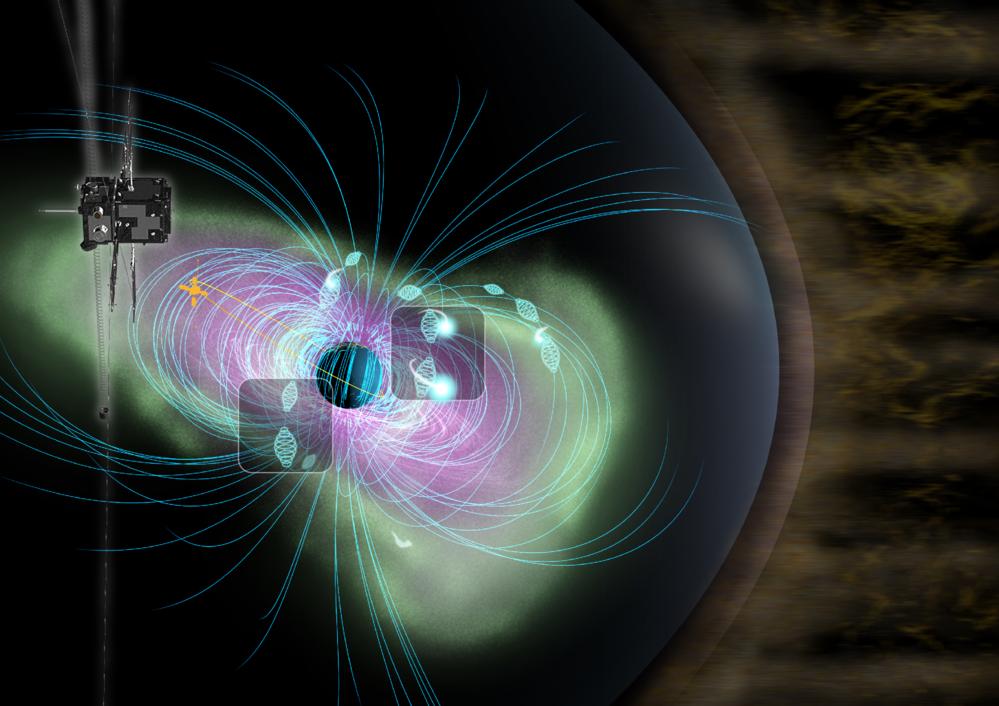 Den japanske satellitten ARASE forsker på Van Allen-beltene med romvær rundt jorda.