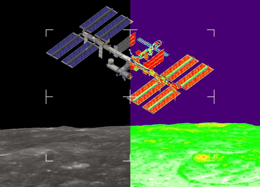 For å navigere tilbake til månestasjonen Lunar Gateway har Heracles-fartøyet et kamera som ser i flere bølgelengder. Illustrasjon: Cosine/ESA