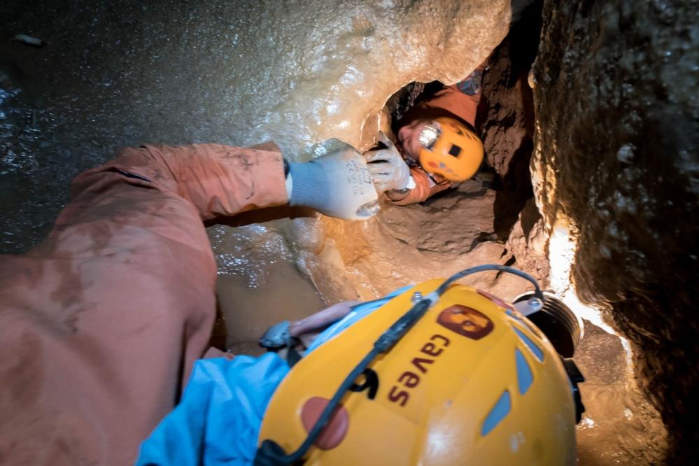 Romfarere må ikke ha klaustrofobi. Her fra CAVES 2016. Foto: ESA/V. Crobu