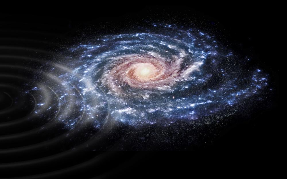 Forstyrrelse av stjernene i Melkeveien. Illustrasjon: ESA