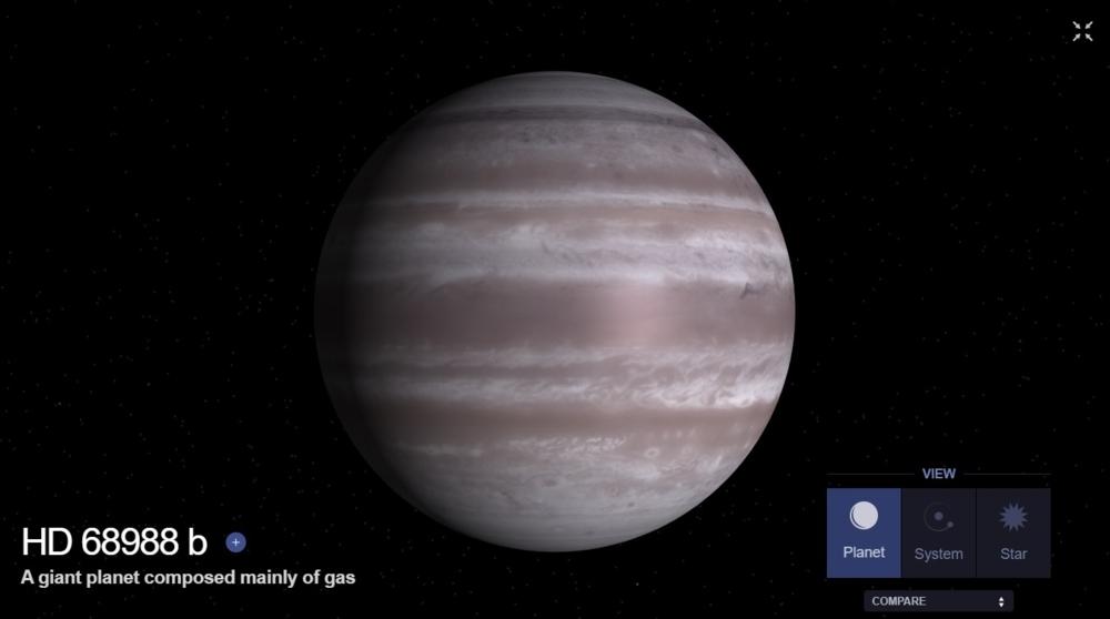 Slik kan HD 68988 b se ut, gassplaneten som Norge skal gi navn til. Illustrasjon: NASA