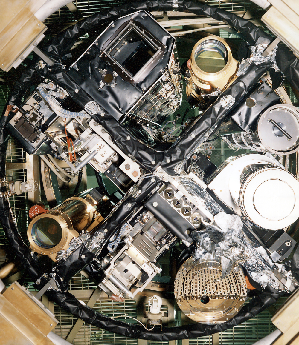 Alle solinstrumentene ombord på Skylab og dens Apollo Telescope Mount. Foto: NASA