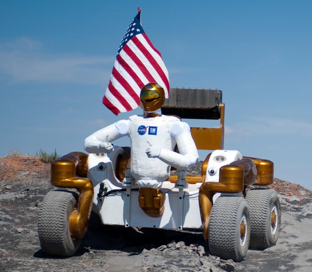Robonaut R2 kan også sitte på kjøretøyet Centaur 2 for jobber på overflaten av himmellegemer. Foto: NASA/R. Geeseman