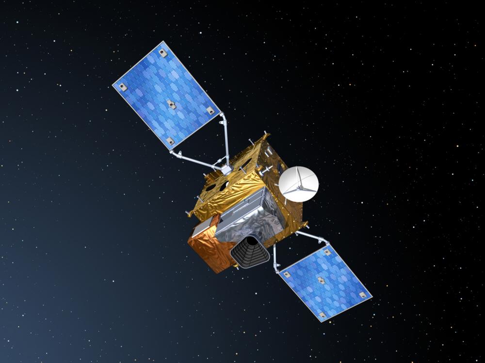 Den europeiske jordobservasjonssatellitten Sentinel 4. Illustrasjon: ESA