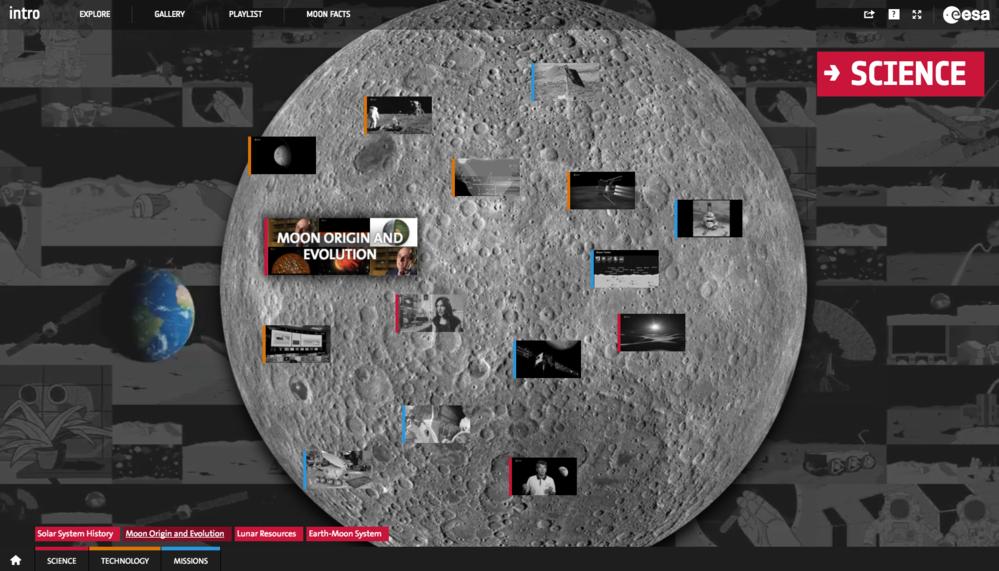 Den europeiske romorganisasjonen ESAs nettside om månen forklarer hvorfor og hvordan månen har blitt utforsket til nå og hvorfor vi bør dra tilbake. Foto: ESA