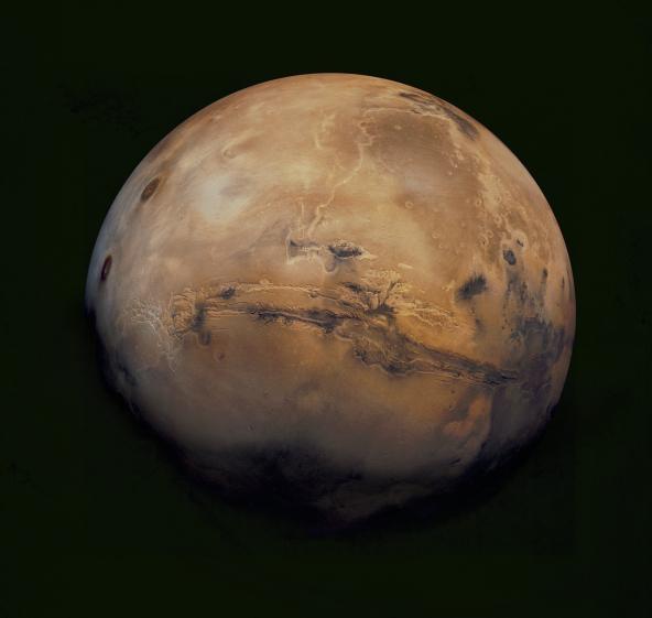 Mars og Valles Marineris.