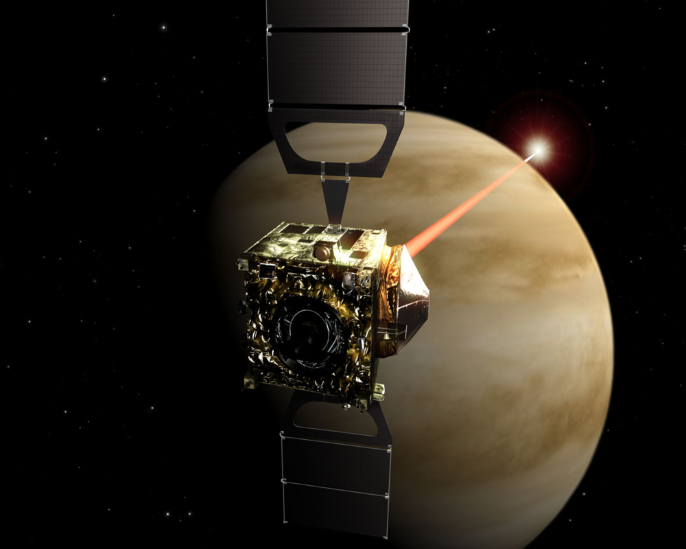 Venus Express måler gass i atmosfæren på Venus. Grafikk: ESA