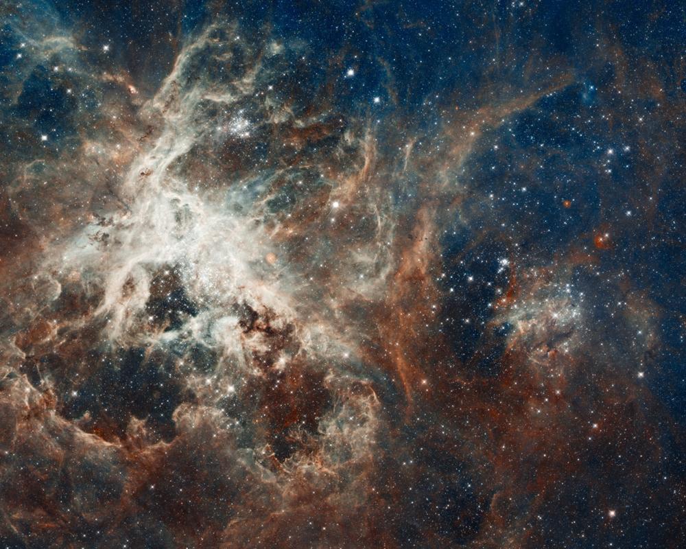 Stjernedannende region sett av Hubble. Foto: NASA/ESA