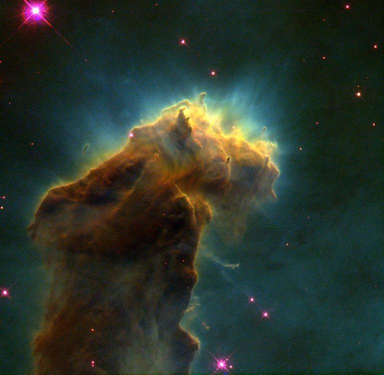 Den stjernedannende tåken M16 sett av Hubble. Foto: NASA/ESA