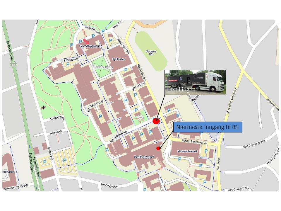kart ntnu Kart NTNU Gloshaugen   Norsk Romsenter