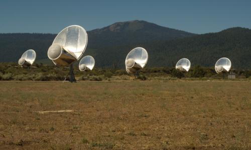 En av SETIs lytteposter. Foto: SETI.