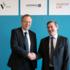 Jan Wörner, ESA's General Director (left), and Ralph W. Bernstein, CEO of Kjeller Innovation, signed the ESA BIC Norway agreement. Photo: Kjeller Innovation