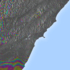 Interferogram som viser forflytning i jordskorpa etter jordskjelvet på New Zealand 14. november 2016. Der regnbuelinjene er tettest har bevegelsen vært størst. Foto: Copernicus/COMET