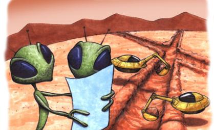 Populærkulturen bruker ofte å portrettere utenomjordiske vesener som grønne. Ill.: NASA.