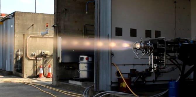 Her testes rakettmotoren Leros som lages i Westcott i England hos bedriften som Nammo nå har overtatt. Foto: Nammo