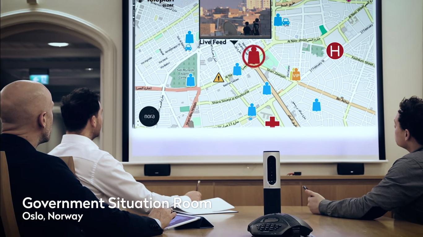 NORA er et samhandlingsverktøy for etater, organisasjoner, bedrifter og andre som trenger å utveksle ulike typer informasjon under kritiske forhold. Foto: Teleplan Globe