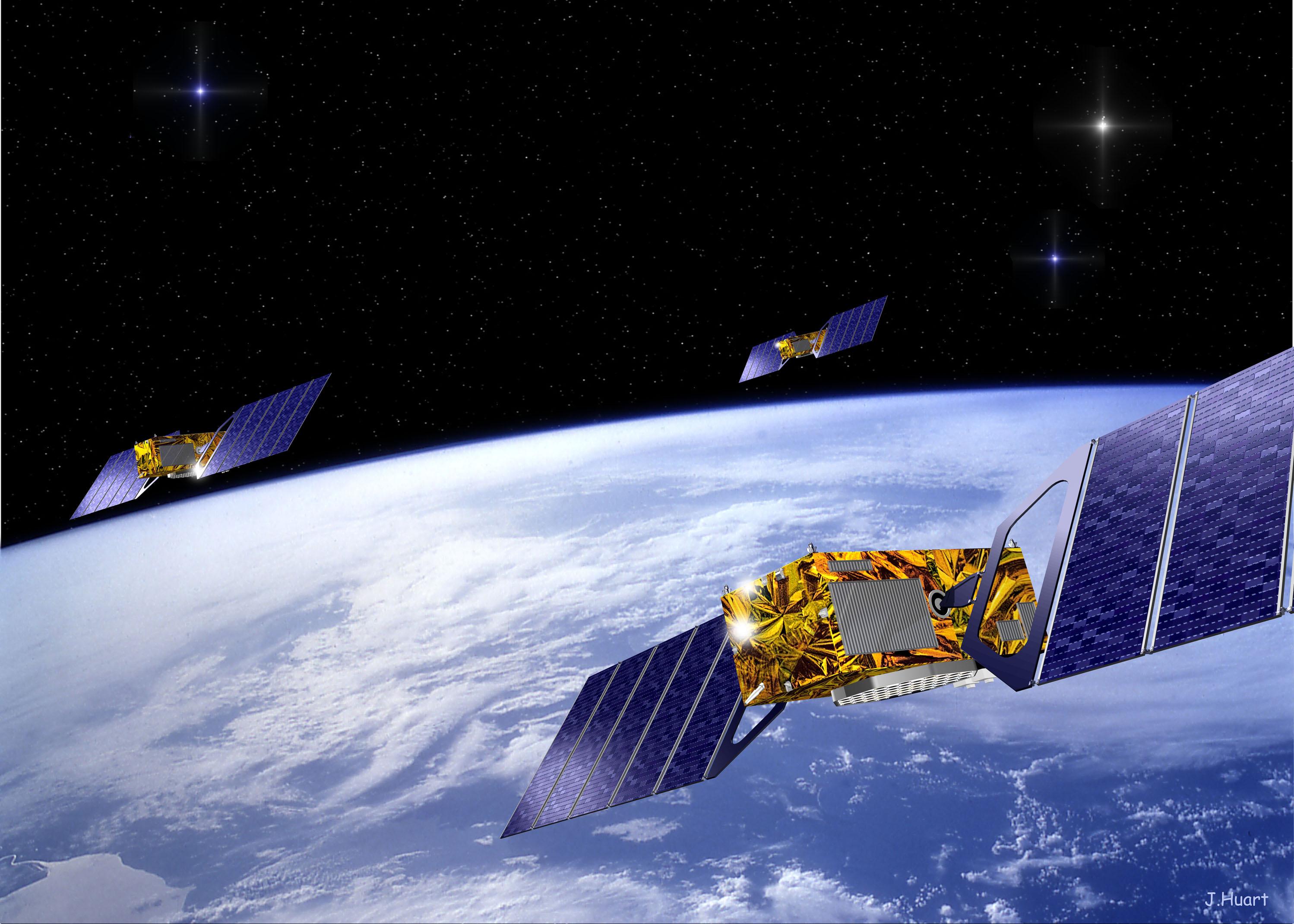 Det nye europeiske navigasjonssystemet Galileo.