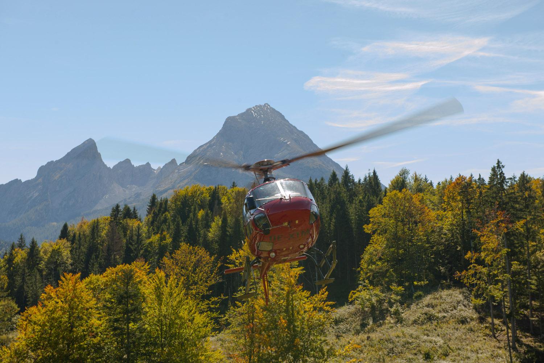 Testing av Galileo med helikopter i Alpene. Foto: S. Corvaja
