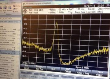 The first signal from AISSat-2 received at the satellite's ground station SvalSat outside Longyearbyen. Photo: KSAT