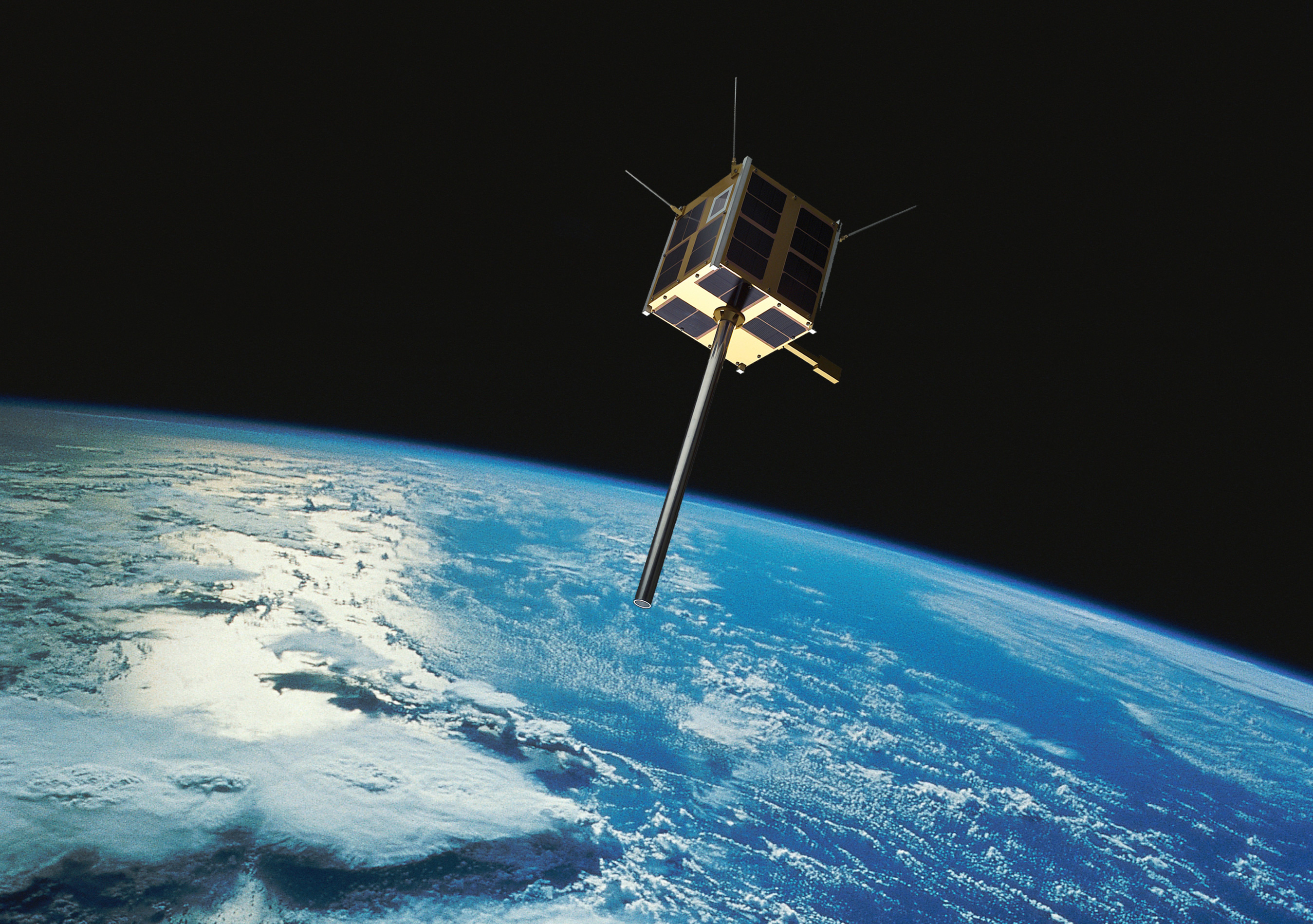 AISSat-2 is Norway's second national satellite and will monitor maritime traffic from space. Illustration: Norsk Romsenter/FFI/NASA