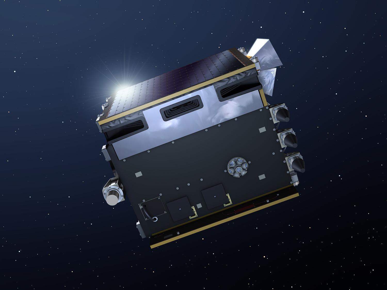 Proba-V skal teste jordobservasjonsinstrumenter og annen teknologi. Illustrasjon: ESA