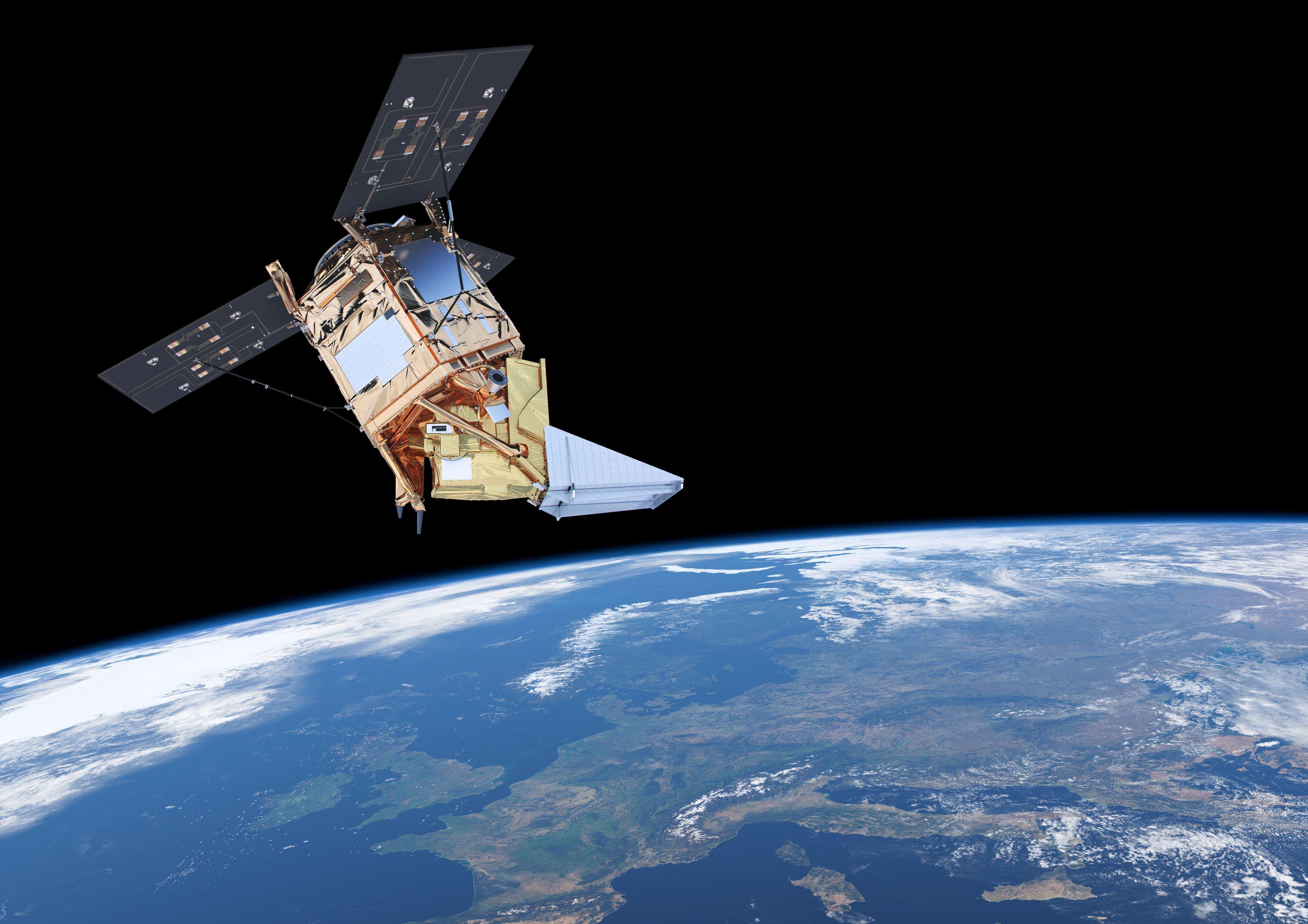 Sentinel-5P ser luftkvaliteten over individuelle byer og tettsteder. Grafikk: ESA/ATG medialab