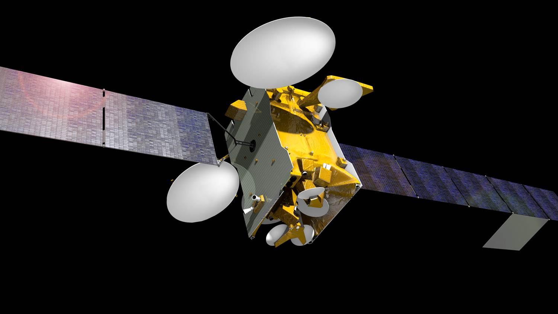 Telekommunikasjonssatellitten SES-10 skal dekke Latin-Amerika. SES-10 eies av satellittgiganten SES og bygges av Airbus. Oppskytingen er planlagt til 2016. Grafikk: Airbus/SES