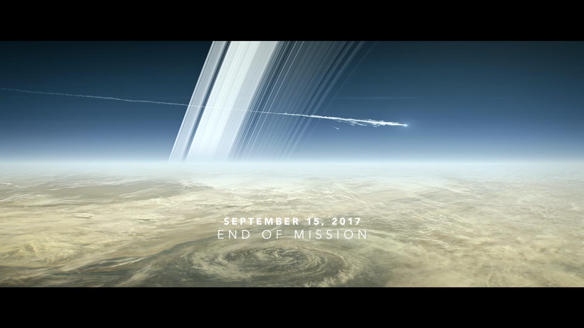 Slik kan det se ut når Cassini går ned i Saturns atmosfære for å brenne opp 15. september 2017. Grafikk: NASA/JPL/E. Wernquist
