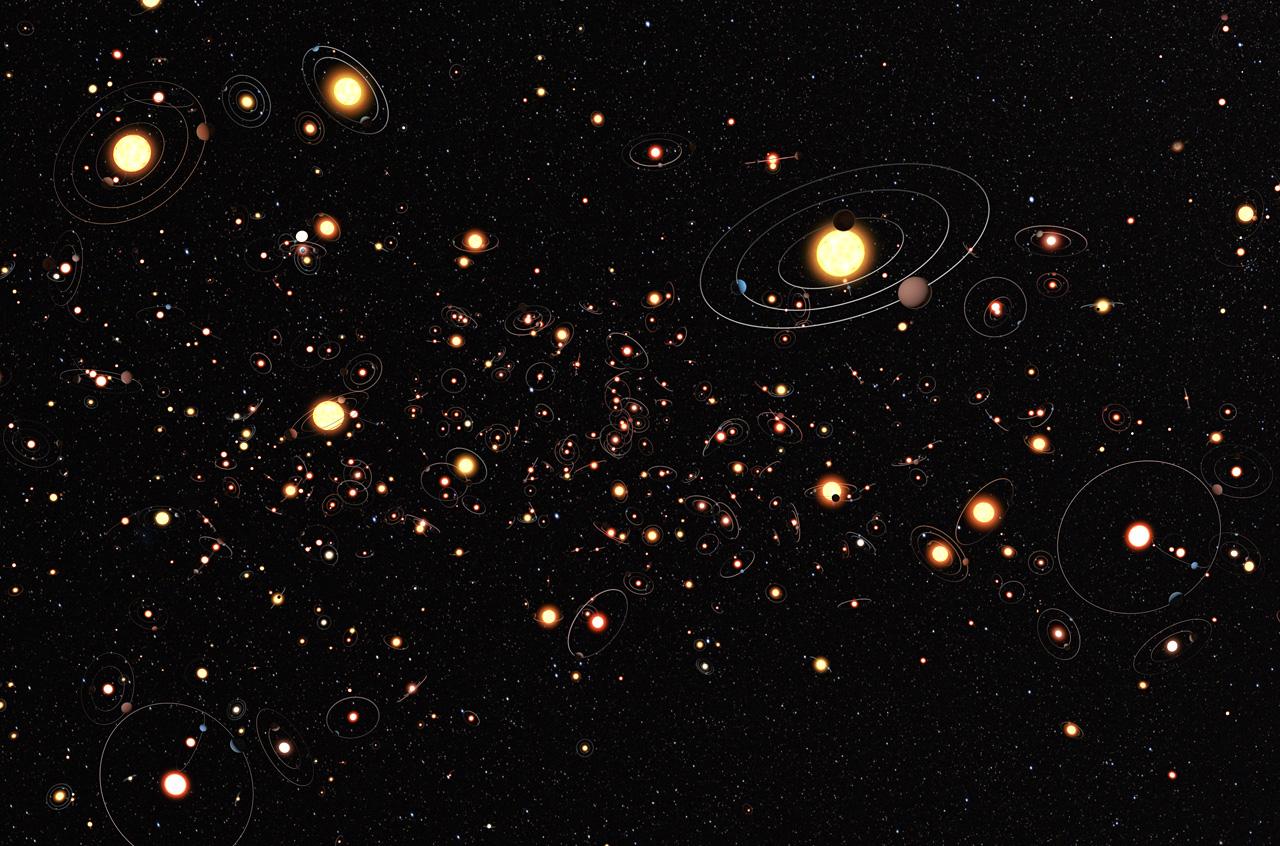 Kanskje finnes det 100 milliarder exoplaneter i solsystemer i Melkeveien.