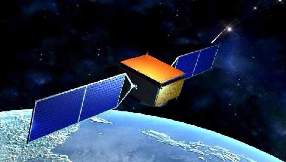 Den kinesiske satellitten DAMPE er en partikkeldetektor som skal finne ut hva mørk materie egentlig er for noe. Grafikk: CSMP Pictures