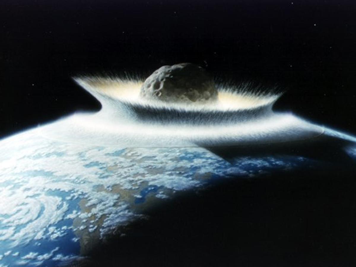 Slik kan det se ut om en enorm asteroide treffer jorda: Illustrasjon: NASA.