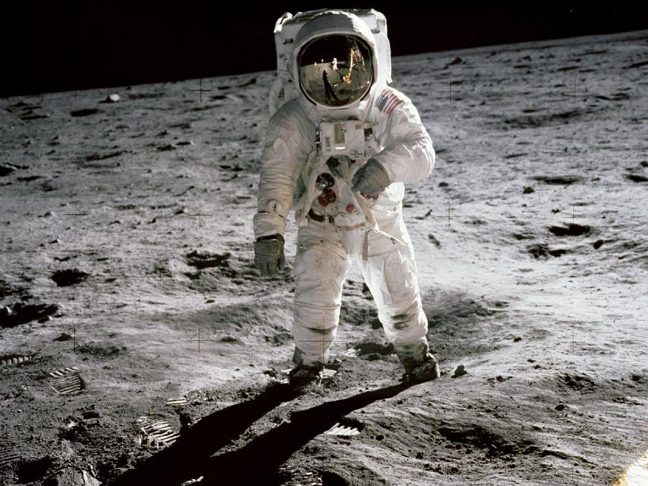 Buzz Aldrin, den andre mannen på månen. Foto: NASA.
