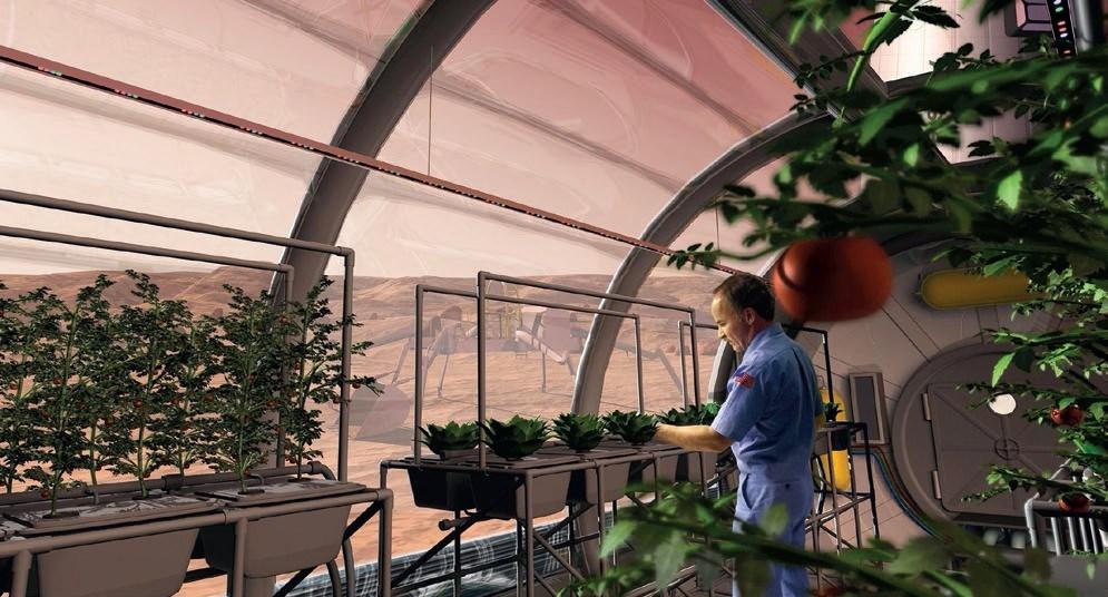 Kanskje kan et drivhus på Mars se slik ut en gang. Illustrasjon: NASA.