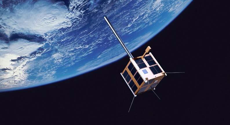 AISSat-1 ble utviklet av FFI i nært samarbeid med Norsk Romsenter, Kystverket og Kongsberg Gruppen. Illustrasjon: Science Photo Library/FFI
