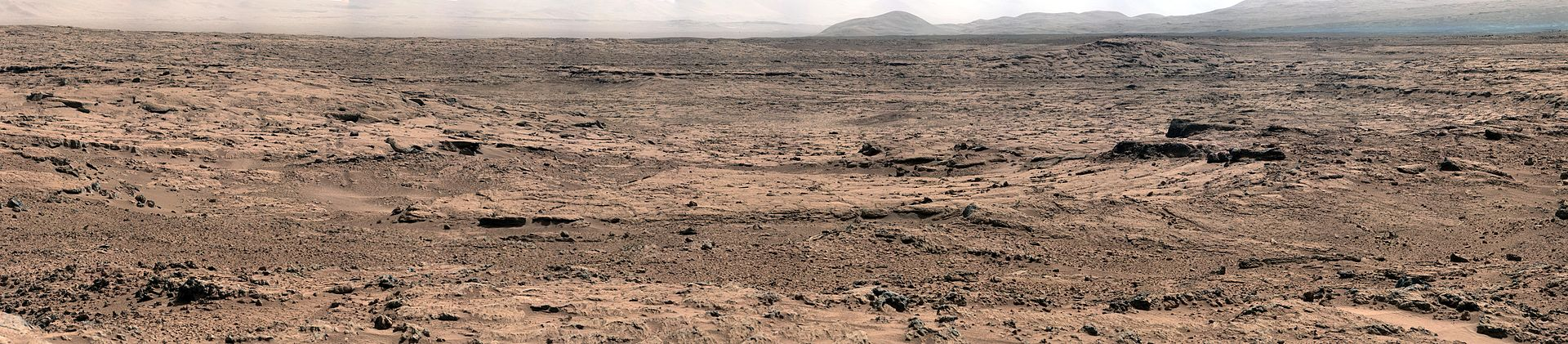 Panorama oer området Rocknest på Mars. Foto: NASA.